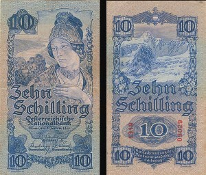 Austria 10 Shillings - SOLD