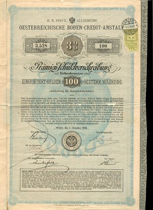 100 Gulden Austrian Bond - SOLD