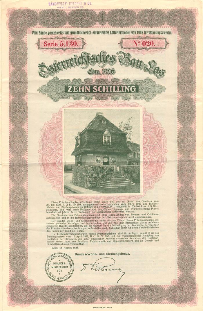 10 Schilling Austrian Bond