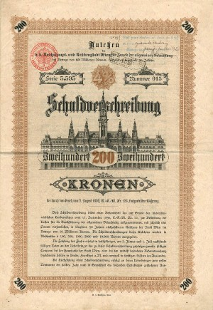 200 Kronen Austrian Bond - SOLD