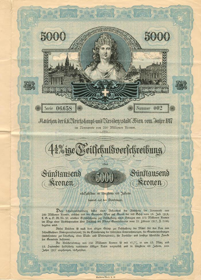 $5,000 Austrian Bond