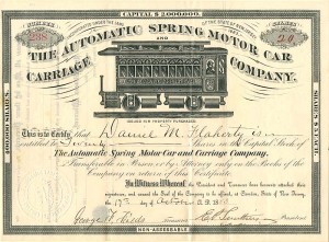 Automatic Spring Motor Car Carriage Company