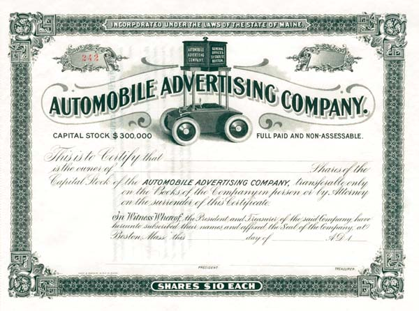 Automobile Advertising Company