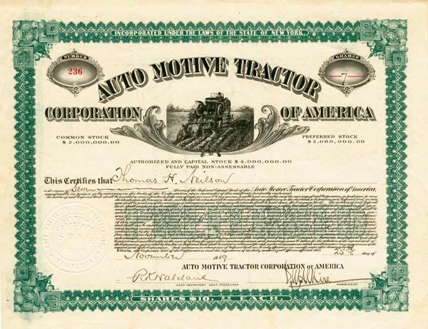 Auto Motive Tractor Corporation of America