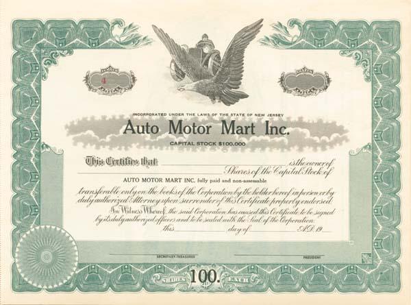 Auto Motor Mart, Inc.