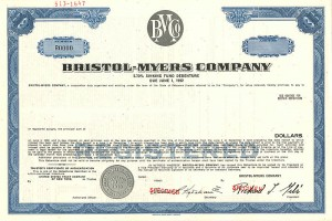Bristol-Myers Company - SOLD
