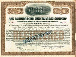 Baltimore & Ohio Railroad $4,353,000 Bond