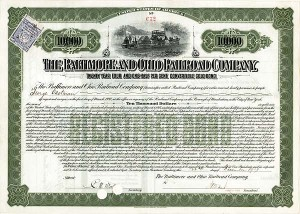 George Eastman - Baltimore & Ohio Railroad - Bond - SOLD