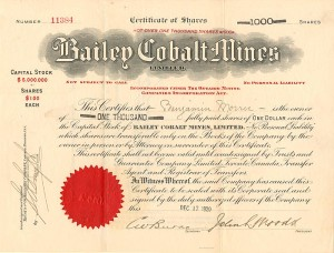 Bailey Cobalt Mines Limited