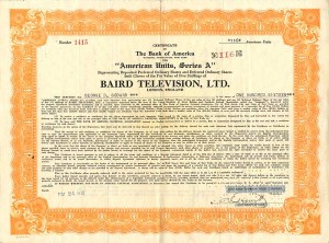 Baird Television, Ltd. - SOLD