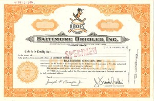 Baltimore Orioles, Inc. - SOLD