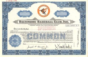 Baltimore Baseball Club, Inc. - SOLD