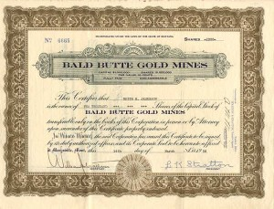 Bald Butte Gold Mines