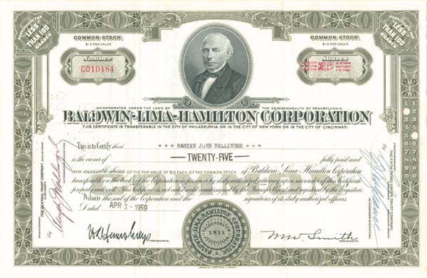 Baldwin-Lima-Hamilton Corporation
