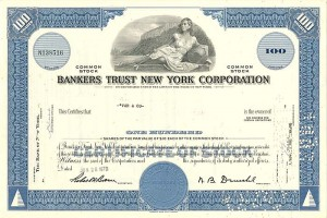Bankers Trust New York Corporation - SOLD