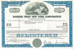 Bankers Trust New York Corporation - Stock Certificate