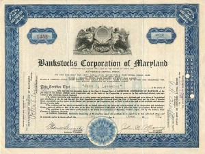 Bankstocks Corporation of Maryland