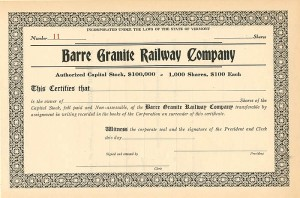 Barre Granite Railway Company