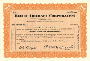 Beech Aircraft Corporation - SOLD