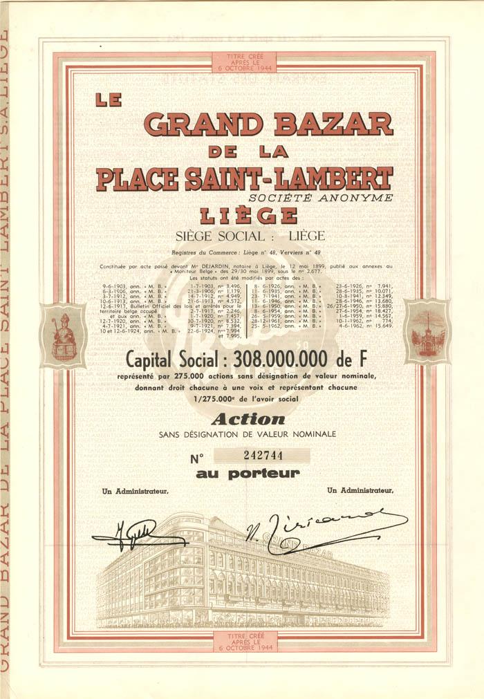 Grand Bazar de la Place Saint-Lambert Liege