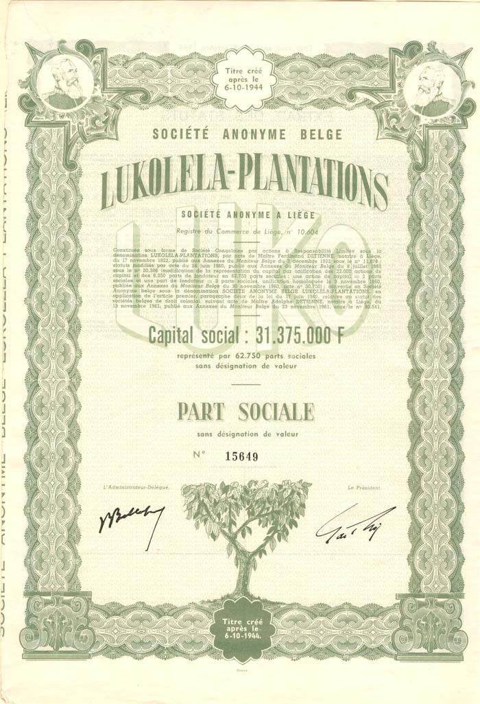 Societe Anonyme Belge Lukolela-Plantations