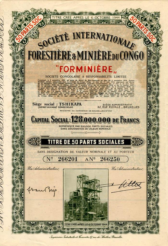 Societe Internationale Forestiere and Miniere du Congo