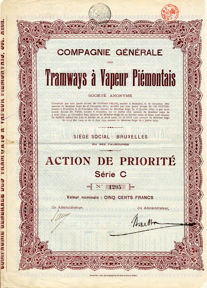 Compagnie Generale des Tramways a Vapeur Piemontais