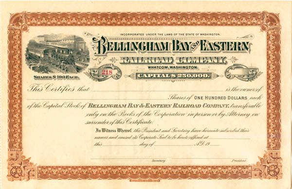Bellingham Bay & Eastern Railroad