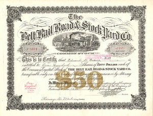 Belt Rail Road & Stock Yard Co.