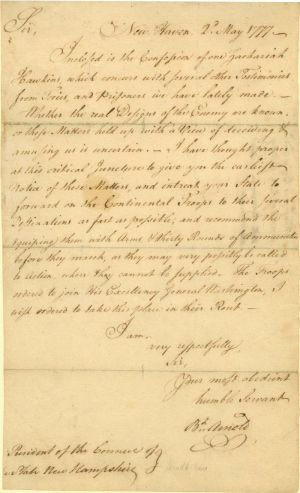 ALS, Autographed Letter signed by General Benedict Arnold - SOLD