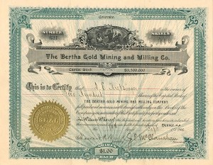 Bertha Gold Mining and Milling Co.