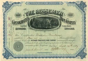 Bessemer Consolidated Iron Company- SOLD