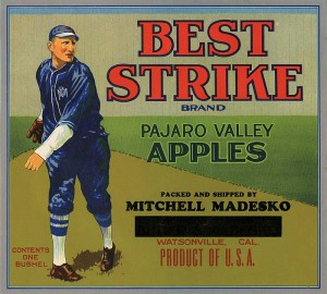Fruit Crate Label - Best Strike
