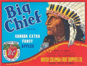Fruit Crate Label - Big Chief