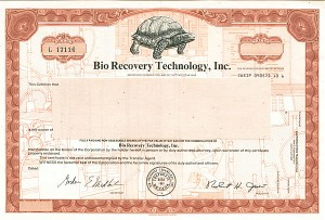 Bio Recovery Technology, Inc