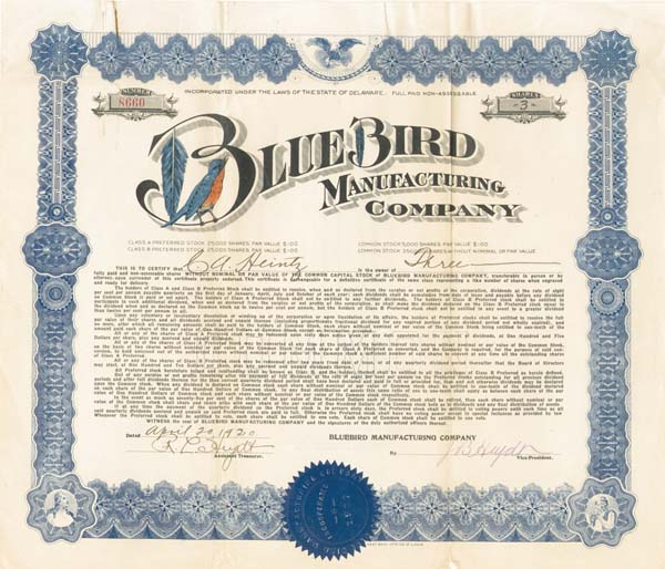 Bluebird Manufacturing Company
