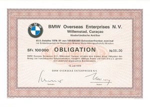 BMW Overseas Enterprises N.V. - SOLD