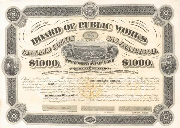 Board of Public Works City & County - San Francisco - Bond