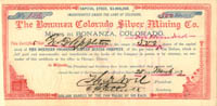 Bonanza Colorado Silver Mining Co.