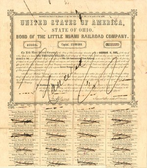 Bond of the Little Miami Railroad Company - SOLD
