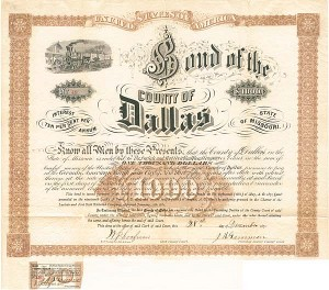 Bond of the County of Dallas