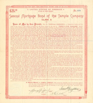 Second Mortgage Bond of the Temple Company