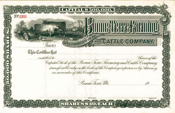Bonne-Terre Farming & Cattle Company - SOLD