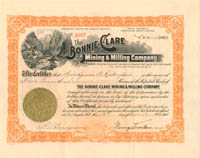 Bonnie-Clare Mining & Milling Company - SOLD