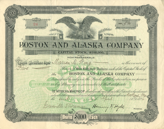 Boston and Alaska Company