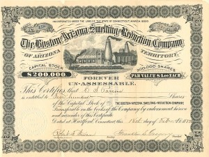 Boston and Arizona Smelting and Reduction Company - SOLD