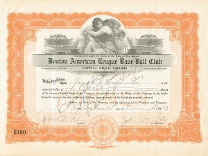 Boston American League Base-Ball Club - SOLD