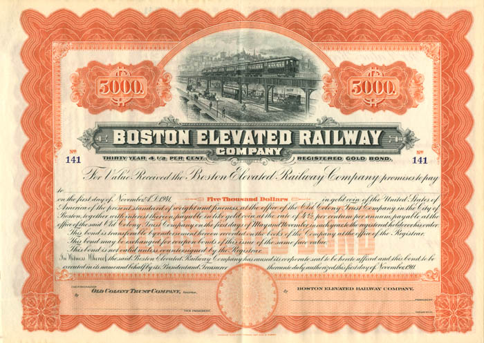 Boston Elevated Railway Company - SOLD