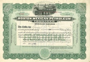 Boston Mexican Petroleum Trustees - Stock Certificate