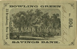 Bowling Green Savings Bank Bankbook - SOLD